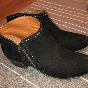 Lucky Brand Black Booties with small studs, Size 8